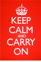 Keep Calm and Carry On Poster Red