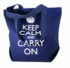 Keep Calm and Carry On Tote Bags