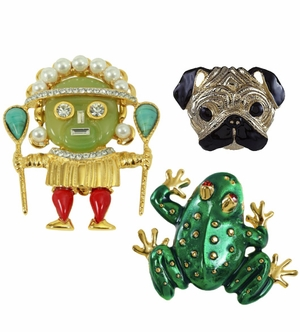 Kenneth Jay Lane Jewelry Brooches