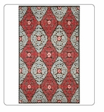 Kitchen Rug-Suzani Red