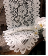 Lace Table Runners White Pk 6