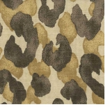 Leopard Print Fabric Brown Animal Swatch