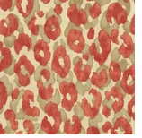 Leopard Print Fabric Red Animal Swatch