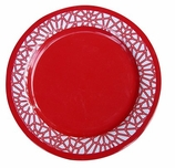 Melamine Dinner Plates Orange Red