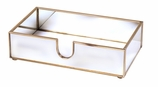 Mirrored Hand Towel Holder