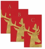 Monogrammed Hand Towels Stag Red