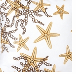 Nautical Fabrics Gold Starfish