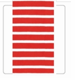 Nautical Party Decorations Bretagne Red Guest Towels