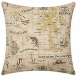 Nautical Pillows Map
