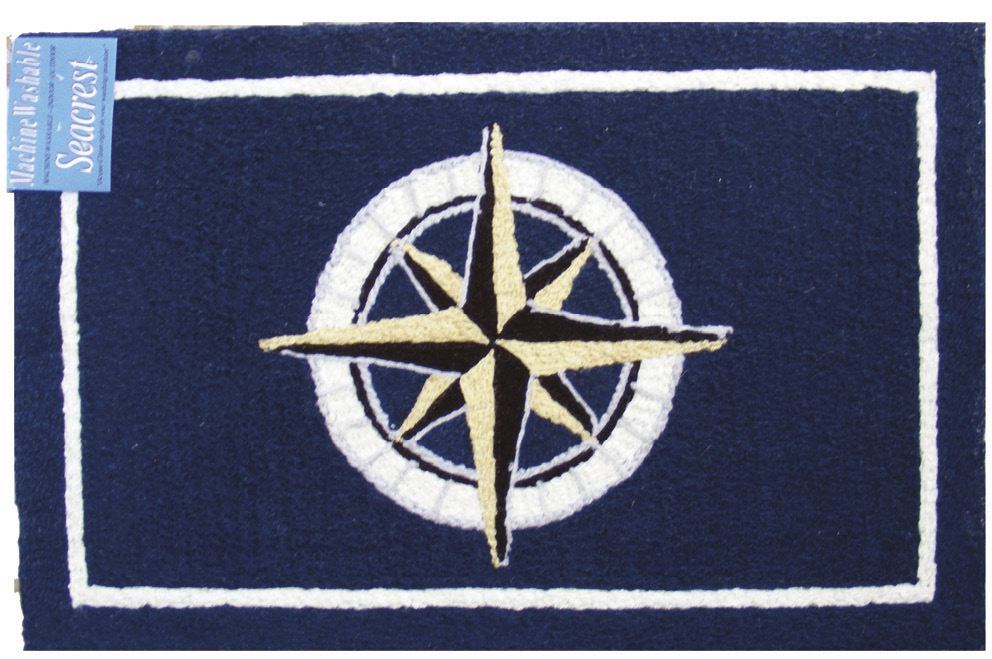 Nautical Rugs 2x3 Compass. Click to enlarge