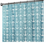 """Nautical Shower Curtains Anchor Turquoise 72"""""""