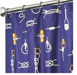 """Nautical Shower Curtains Knot 84"""""""
