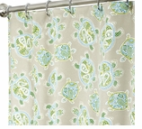 """Nautical Shower Curtains Turtle 84"""""""