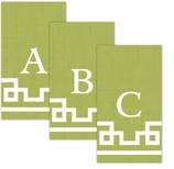 Paper Hand Towel Green Letter A-Z