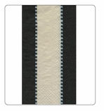 Paper Hand Towels Black & White Stripe 15 Pc