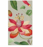 Paper Hand Towels Floral Grey