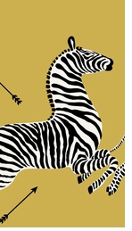 Paper Hand Towels Gold Zebra