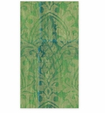 Paper Hand Towels Green Damask