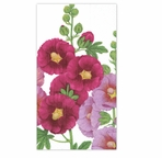 Paper Hand Towels Hollyhocks