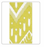 Paper Hand Towels Ikat Light Green 15 Pc