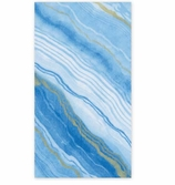 Paper Hand Towels Marble Blue