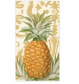 Paper Hand Towels Pineapple Gold