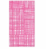 Paper Hand Towels Pink Plaid Pk 15