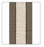 Paper Hand Towels Taupe Stripe 15 Pc