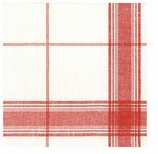 Paper Napkins Lunch Plaid Red