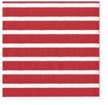 Paper Napkins Lunch Stripe Red