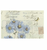 Paper Placemats Blue Daisy