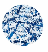 Paper Plates Dinner Splatterware Blue