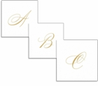 Personalized Beverage Napkins Gold