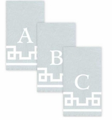 Personalized Hand Towels Silver