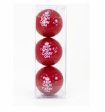 Red Golf Balls- Set of 3