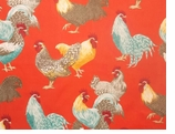 Rooster Fabrics Red Swatch