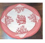 Round Kitchen Rugs Coral
