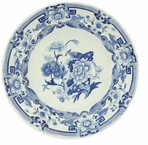 Round Placemats Blue and White