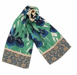 Silk Scarves for Women Irises