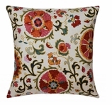 Suzani Pillow Red
