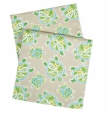 "Table Runners 90"" Beach Turtle"