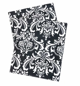 Table Runners Damask Black