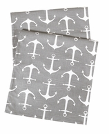 Table Runners Gray Anchor 90""