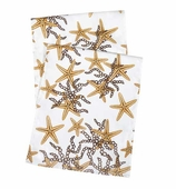 Table Runners Starfish Gold 90 Inch