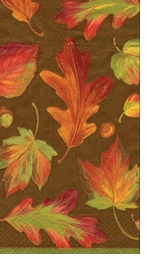 Thanksgiving Brown Leaves Hand Towels