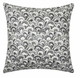 Throw Pillow Covers Black Paisley