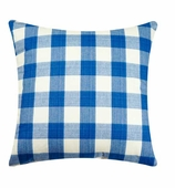 Throw Pillows for Couch Gingham Blue