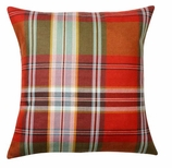 Throw Pillows for Couch Red Plaid