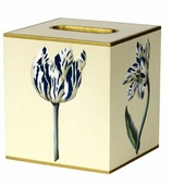 Tissue Box Blue Tulip