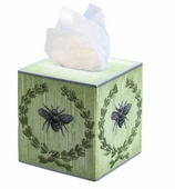 Tissue Box Cover Bee Green